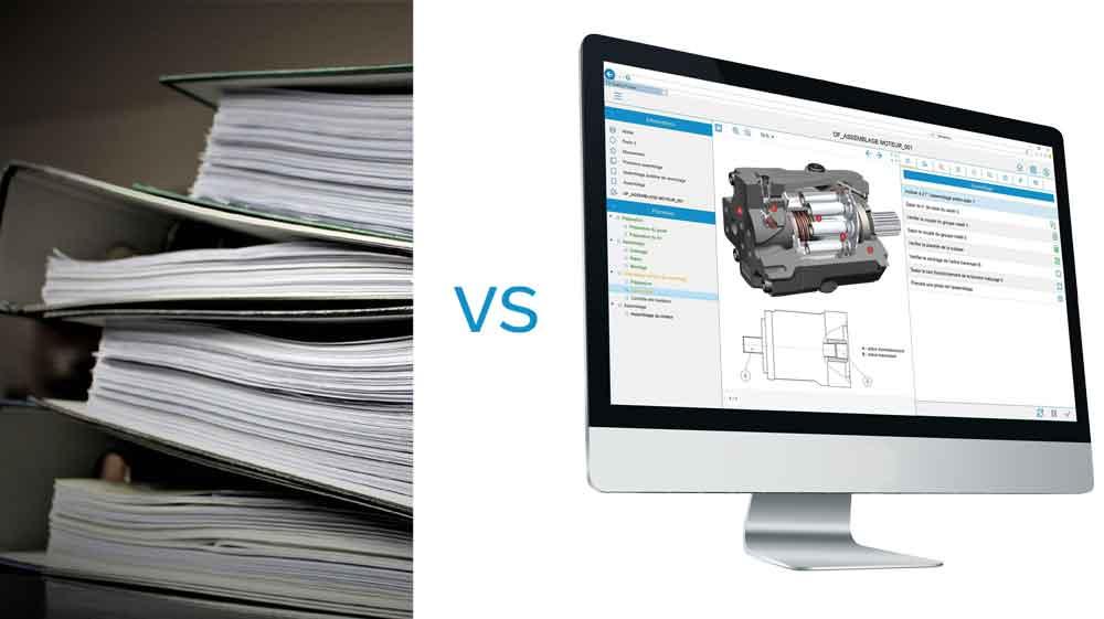 papier vs atelier zéro papier