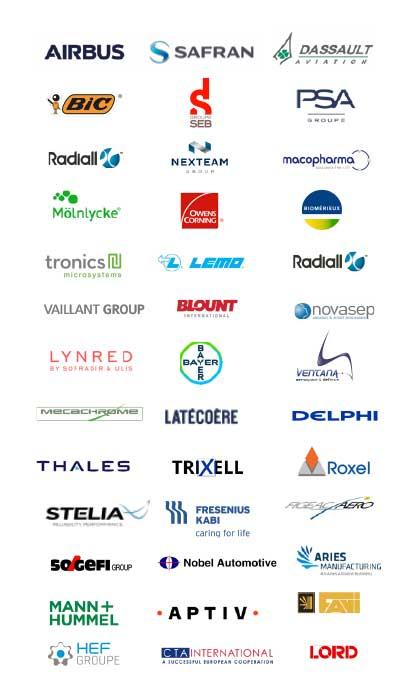 Les principaux clients d'Infodream