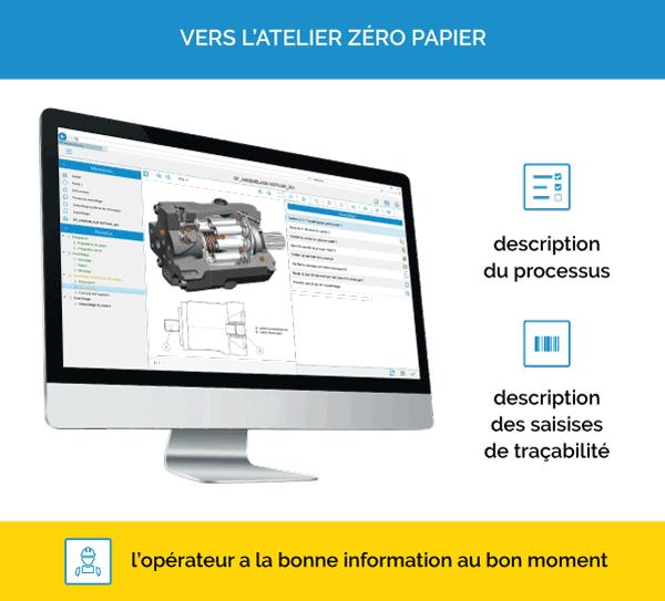qualaxy process atelier zero papier instructions de travail numériques