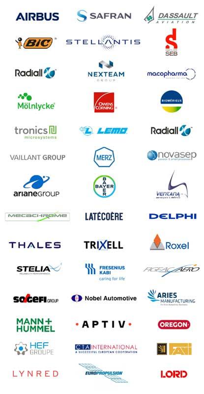 Logos clients Infodream